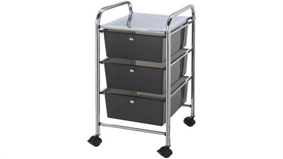 Utility Carts Alvin Three Drawer Storage Cart
