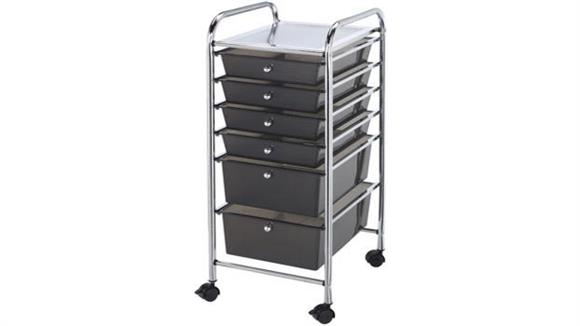 Utility Carts Alvin Six Drawer Storage Cart