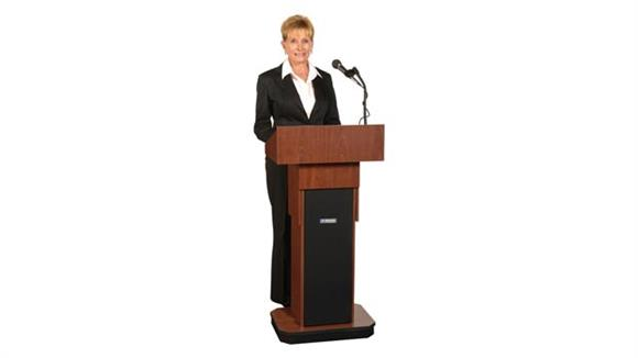 Podiums & Lecterns Amplivox Executive Adjustable Height Sound Column Lectern