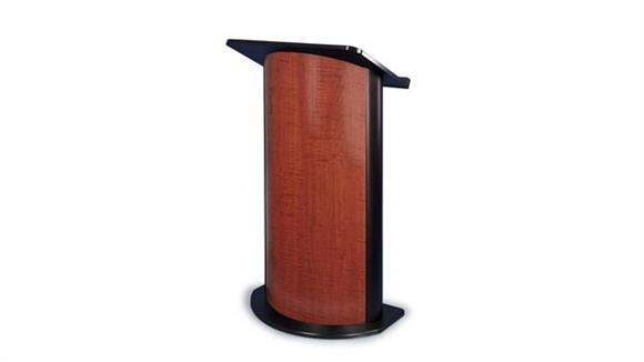 Podiums & Lecterns Amplivox Contemporary Curved Color Panel Lectern