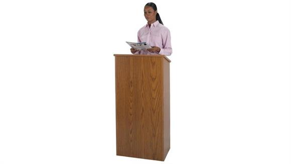 Podiums & Lecterns Amplivox Full Height Stand Up Lectern