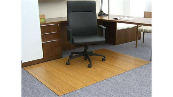 """Chair Mats Anji Mountain 48"""" x 72"""" Bamboo Roll Up Chair Mat"""