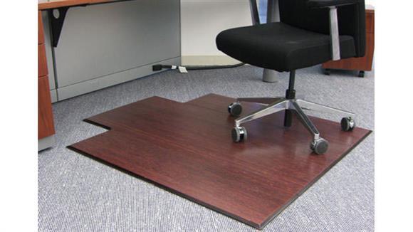 "Chair Mats Anji Mountain 47"" x 51"" Bamboo Tri Fold Chair Mat"