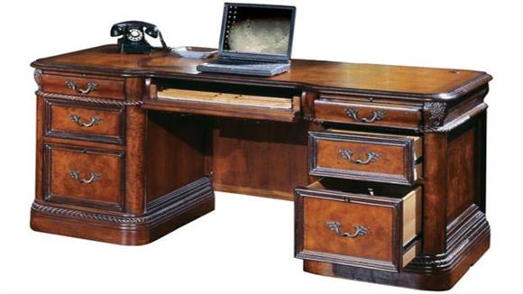 "Executive Desks Aspen Home 72""W Double Pedestal Executive Desk"