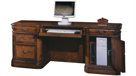 "Office Credenzas Aspen Home 72""W Double Pedestal Credenza"