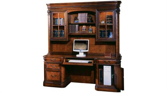 Office Credenzas Aspen Home Double Pedestal Credenza with Hutch