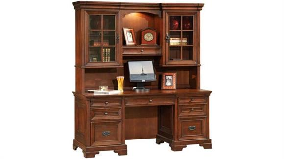 Office Credenzas Aspen Home Computer Credenza with Hutch