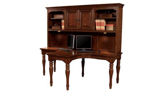 L Shaped Desks Aspen Home Charlestown Dual T Desk with Hutch