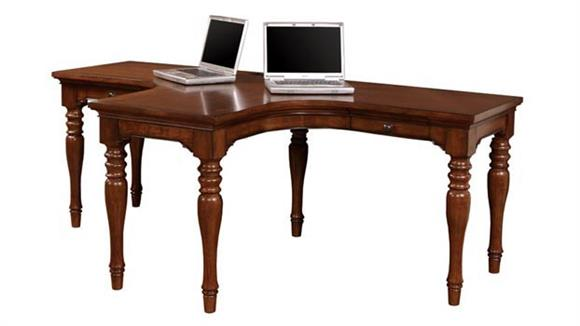 L Shaped Desks Aspen Home Charlestown Dual T Desk