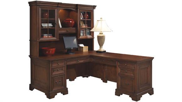 L Shaped Desks Aspen Home L Shaped Desk with Hutch