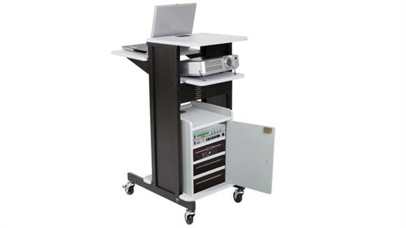 AV Carts Balt Presentation Cart with Locking Cabinet