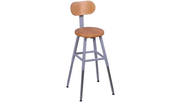 Drafting Stools Balt Adjustable Height Lab Stool with Back