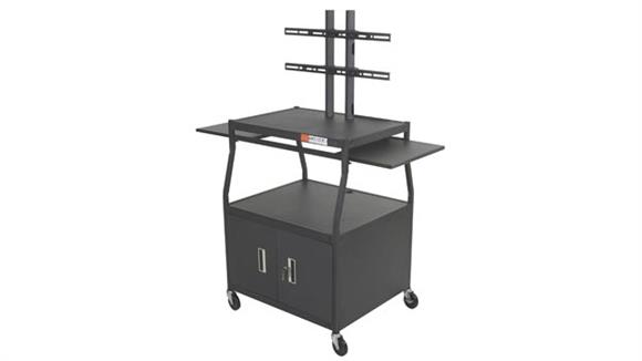 AV Carts Balt Wide Body Flat Panel TV Cart with Locking Storage Cabinet