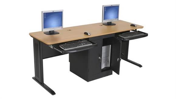 "Workstations & Cubicles Balt LX 72"" x 24"" Computer Workstation"