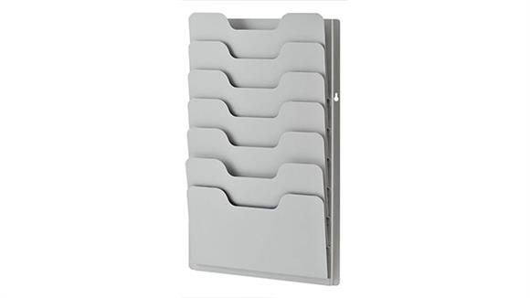 Magazine & Literature Storage Buddy Products 7 Pocket Data Rack