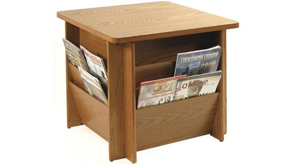 End Tables Buddy Products Table with Literature Rack