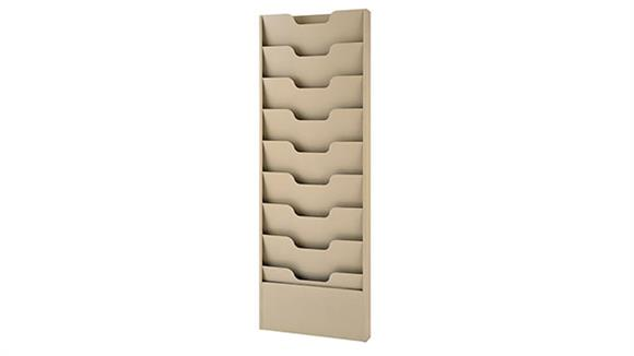 Magazine & Literature Storage Buddy Products 9 Pocket Data Rack