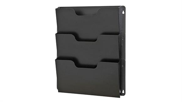 Magazine & Literature Storage Buddy Products Triple Wall Pocket