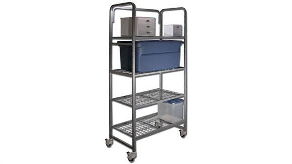 Storage Cabinets Buddy Products Four Shelf Mobile Storage Rack