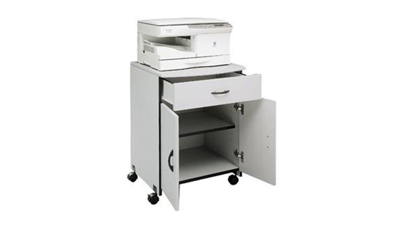 Printer Tables Buddy Products Mobile Wood Machine Stand with Drawer