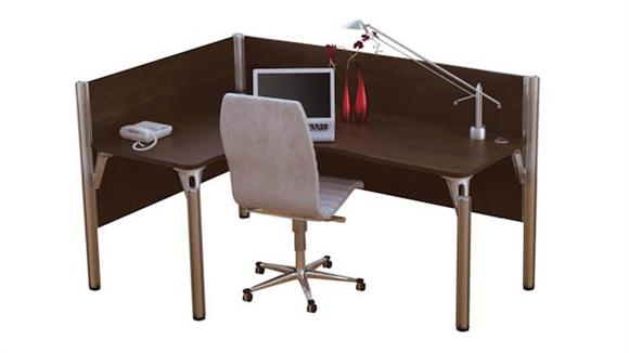 Workstations & Cubicles Bestar Office Furniture Single L Desk Workstation