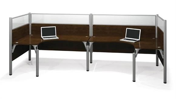 Workstations & Cubicles Bestar Office Furniture Double Back to Back L Shaped Workstation