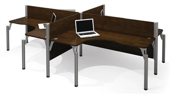 Workstations & Cubicles Bestar Office Furniture Quad L Shaped Workstation