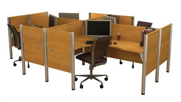 Workstations & Cubicles Bestar Office Furniture Four Person Workstation