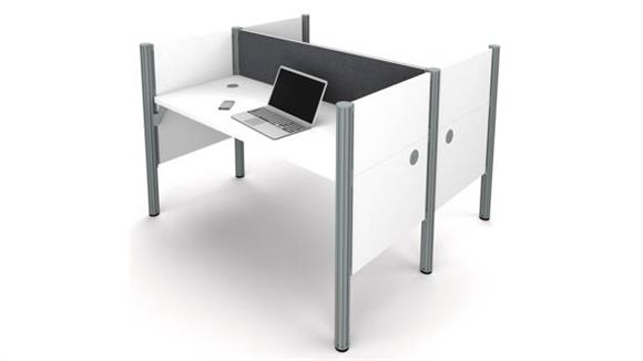 Workstations & Cubicles Bestar Office Furniture Double Face to Face Workstation - White with Tack Boards