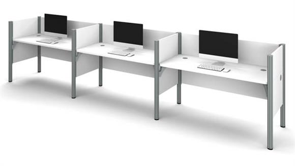 Workstations & Cubicles Bestar Office Furniture Triple Workstation
