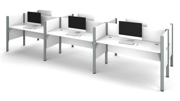 Workstations & Cubicles Bestar Office Furniture Six Person Workstation