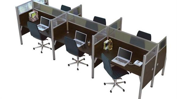 Workstations & Cubicles Bestar Office Furniture Six Person Telemarketing Workstation