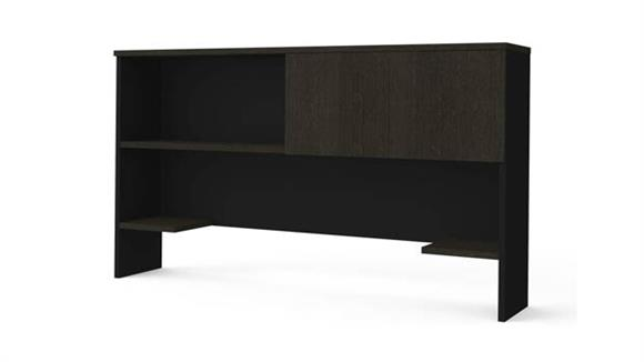 Hutches Bestar Office Furniture Hutch with Sliding Door