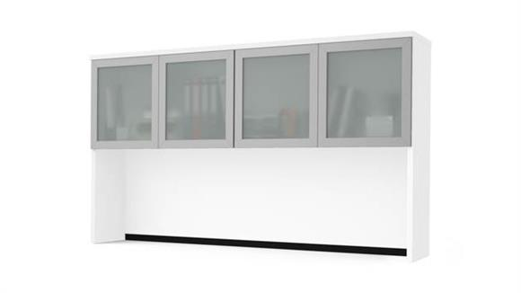 Hutches Bestar Office Furniture Hutch with Frosted Glass Doors