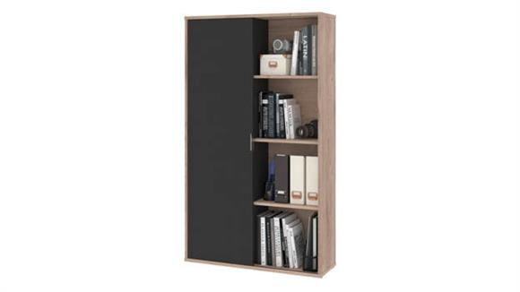 Bookcases Bestar Office Furniture Bookcase with Sliding Door