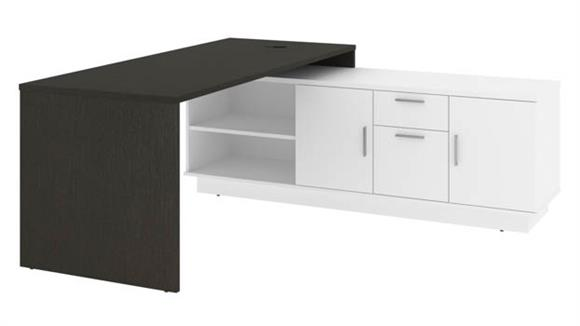 "L Shaped Desks Bestar Office Furniture 72"" W L-Shaped Office Desk"