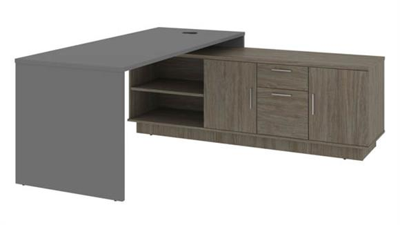 "L Shaped Desks Bestar Office Furniture 72""W L-Shaped Office Desk"