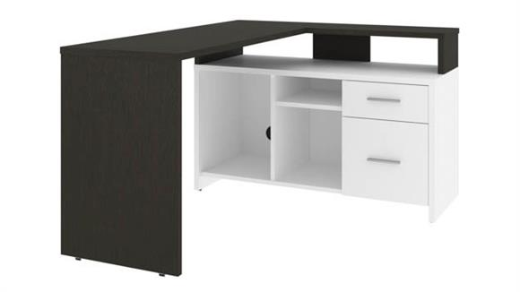 "L Shaped Desks Bestar Office Furniture 56"" W  L-Shaped Desk"