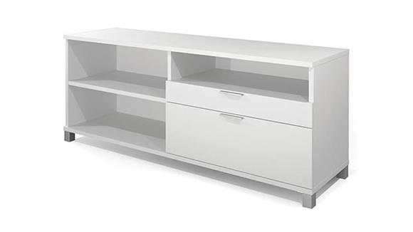 Office Credenzas Bestar Office Furniture Credenza with Drawers