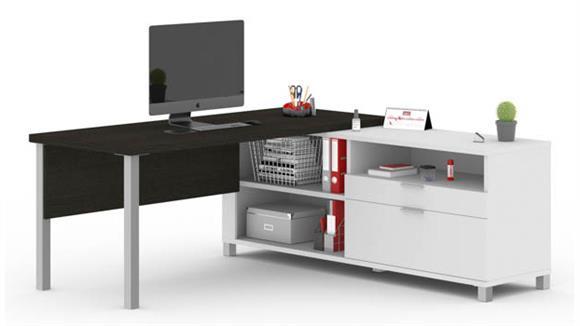 L Shaped Desks Bestar Office Furniture L-Desk