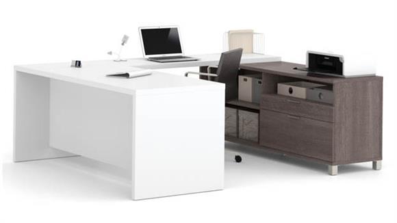 U Shaped Desks Bestar Office Furniture U Shaped Desk