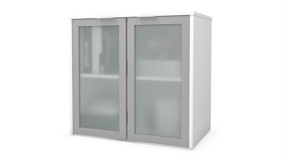 "Hutches Bestar Office Furniture 30""W Hutch with Frosted Glass Doors"
