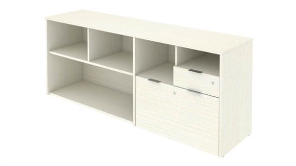 """Office Credenzas Bestar Office Furniture 72""""W Credenza with 2 Drawers"""