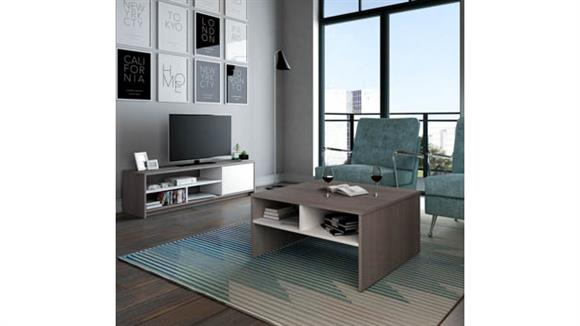 TV Stands Bestar Office Furniture 2-Piece Storage Coffee Table and TV Stand Set