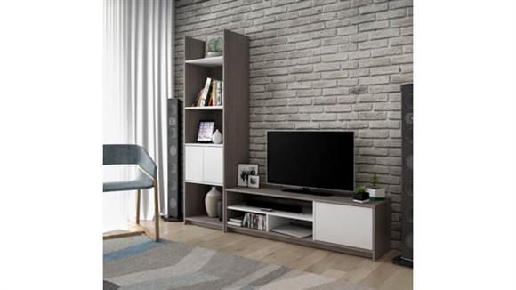 TV Stands Bestar Office Furniture 2-Piece TV Stand and Storage Tower Set