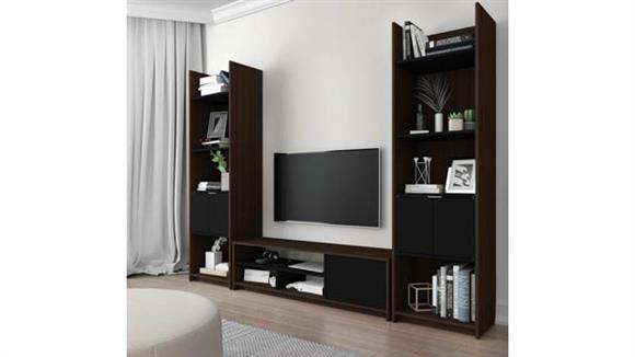 TV Stands Bestar Office Furniture 3-Piece TV Stand and 2 Storage Towers Set