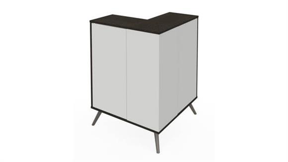 Storage Cabinets Bestar Office Furniture Outer Corner Storage Unit