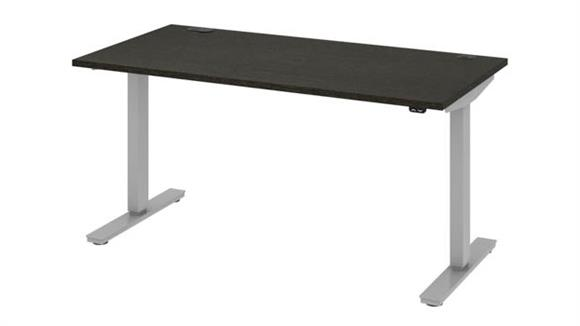 "Adjustable Height Desks & Tables Bestar Office Furniture 60""W x 30""D Standing Desk"