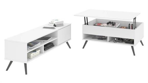 "TV Stands Bestar Office Furniture 37"" Lift-Top Storage Coffee Table and 53.5"" TV Stand"