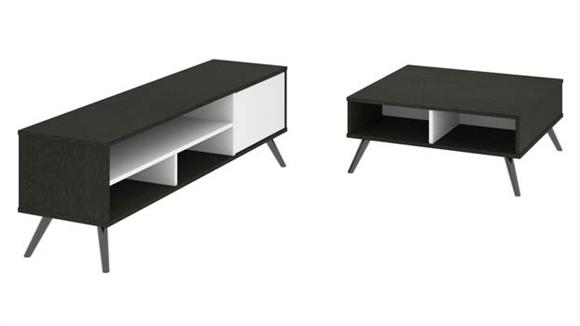 "TV Stands Bestar Office Furniture 29.5"" Storage Coffee Table and 53.5"" TV Stand"